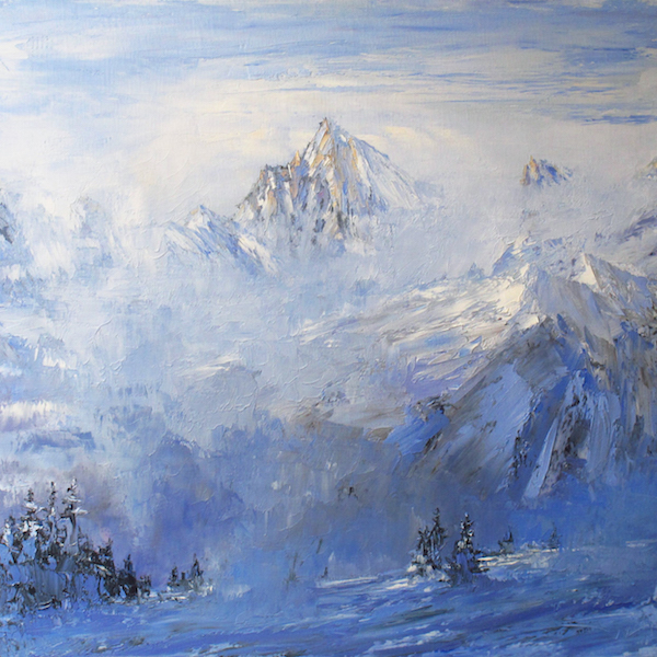 Cold mist 80x80cm 2015 collection privée