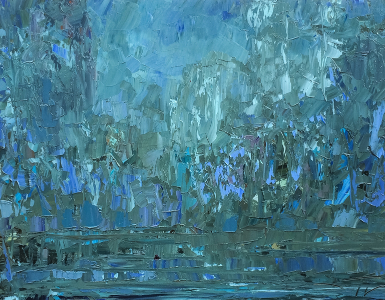 Jungle lake 116x89cm 2016