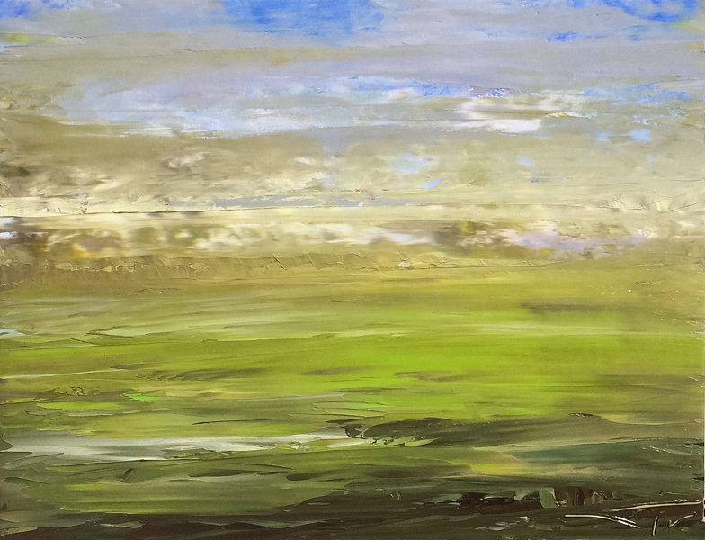 Normandy Field 116x89cm 2016 vendu