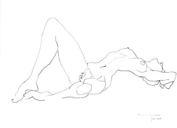 Nu CB4 42x30cm 2008 Nude Drawing