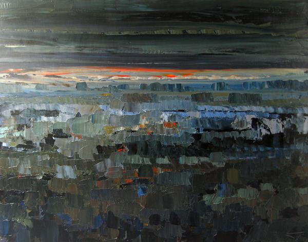 Orage automne 146x114cm Huile sur toile 2010 collection privée