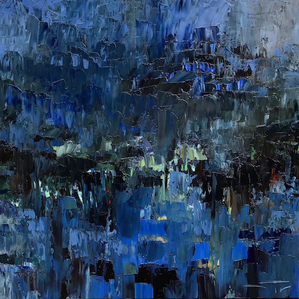 After the blue storm 100x100cm 2017