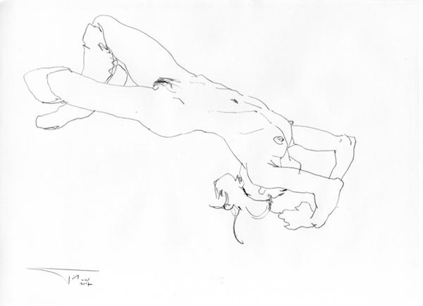 Nude eroticart GJ 42x30cm 2012