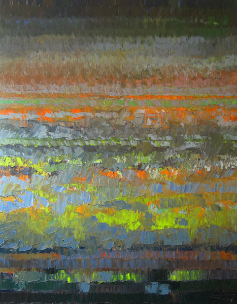 Nuit orange 146x114cm 2007