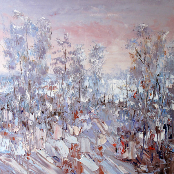 The end of winter 100x100cm 2015