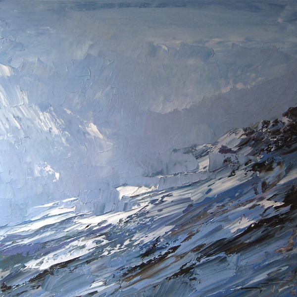 Val d'Isère matière 60x60cm 2011