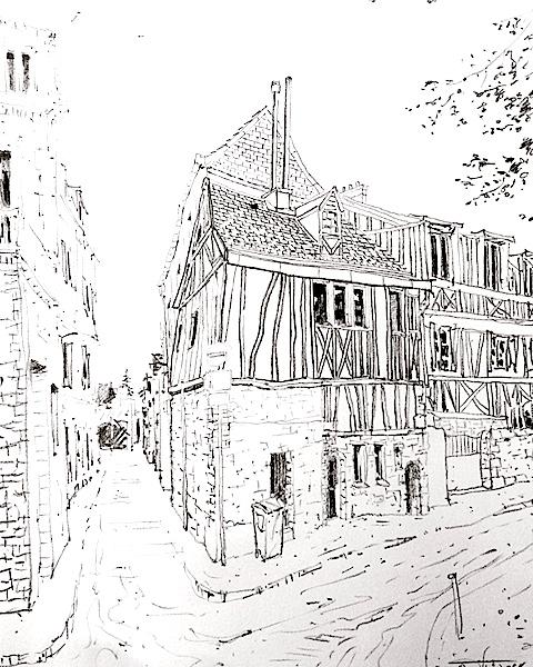 Vieux Rouen 2 42x30cm 2017