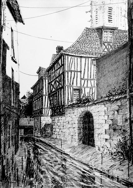 Vieux Rouen  42x30cm 2017