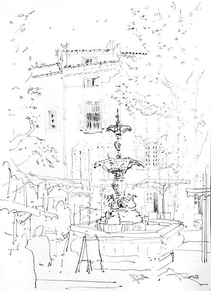 Apt fontaine Luberon 42x30cm 2018