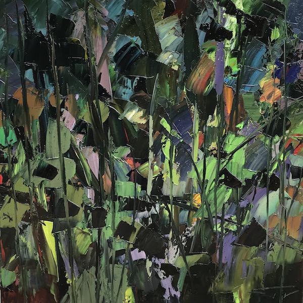 Nocturne végétale harmonie 100x100cm 2018