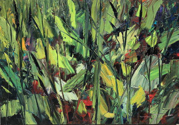 Wet jungle 110x81cm 2018 Huile sur toile collection privée