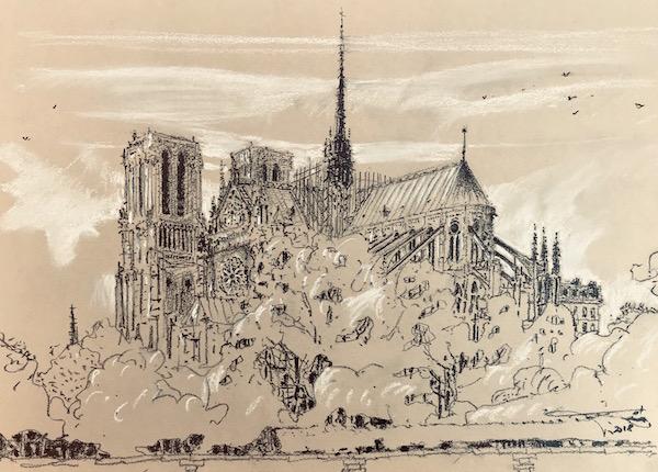 Sensuelle Notre-Dame de Paris 30x42cm 2018 collection privée