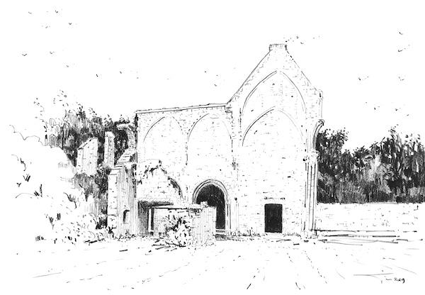 L'abbaye Sainte Marie de Longues sur mer (4) 30x42cm 2019