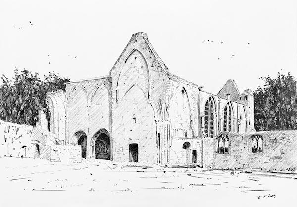 L'abbaye Sainte Marie de Longues sur mer 1