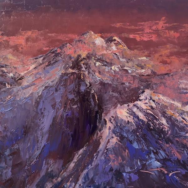 Alpes audace 80x80cm 2020