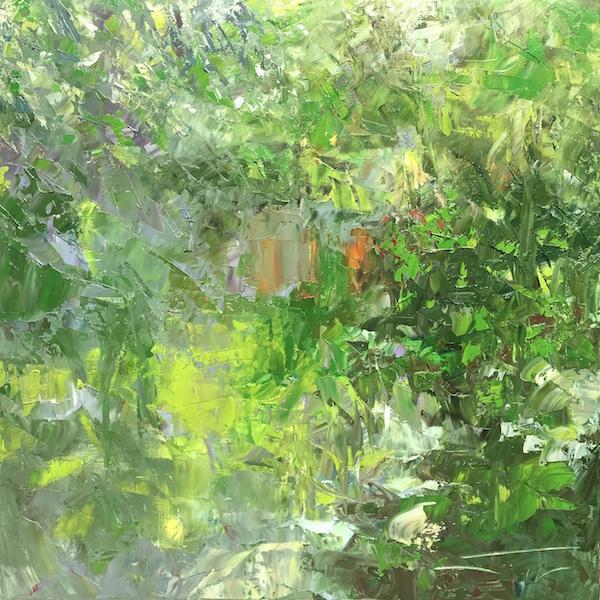 Immersion végétale 80x80cm Huile sur toile 2020