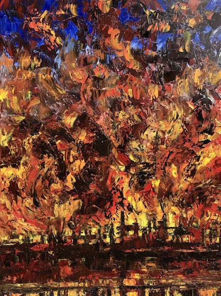 Lubri-Fire 130x97cm Huile sur toile 2020