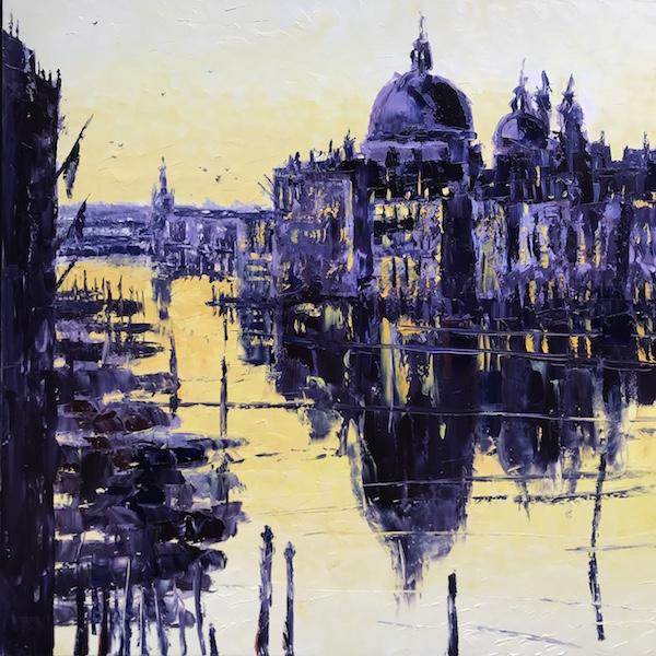 Venise aube 150x150cm Huile sur toile 2021