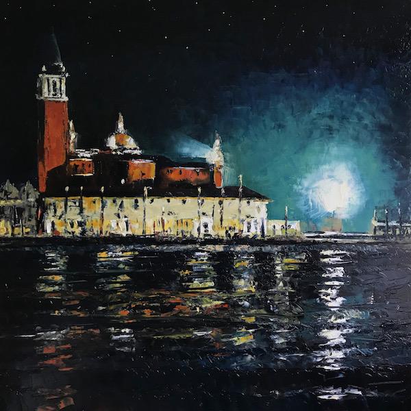 Venise retour de noces 150x150cm Huile sur toile 2021
