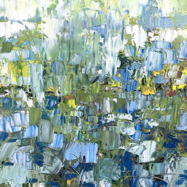 Midsummer in Normandy 100x100cm Huile sur toile 2021
